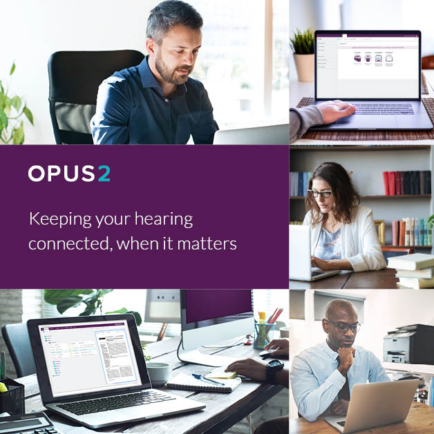 Virtual hearings, powered by Opus 2