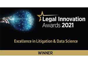 Excellence in Litigation & Data Science, Legal Innovation Awards